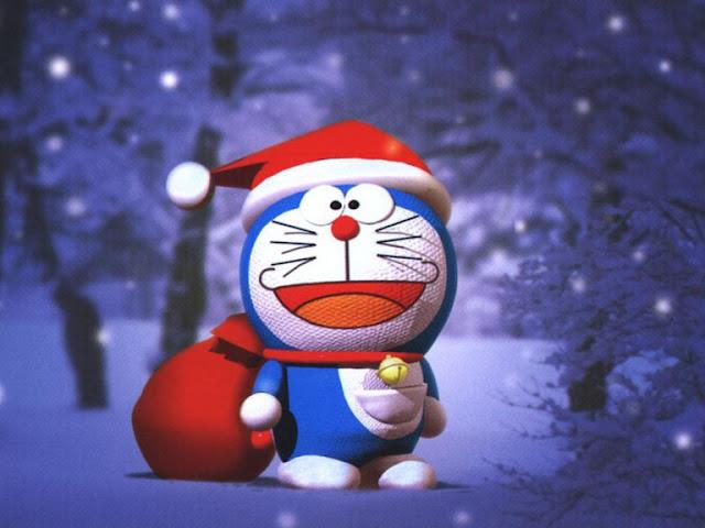 Doraemon As Santa Merry Christmas HD Wallpapers