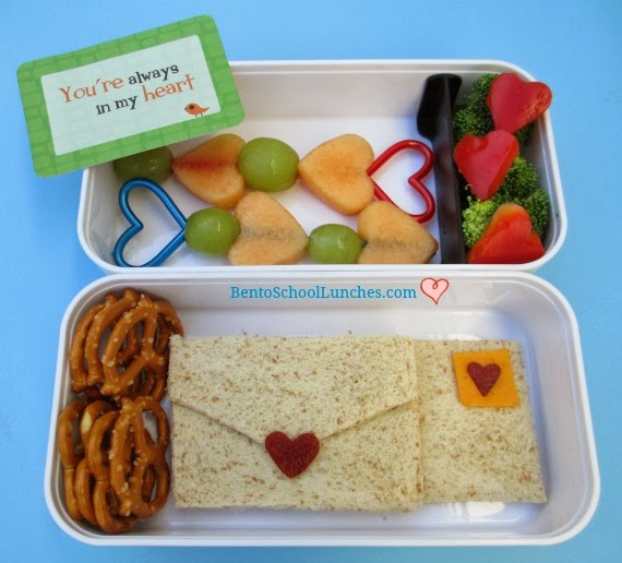 valentines lunch, love letter, bento school lunches