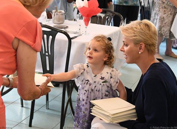 Princess Charlene, Princess Gabriella and Prince Jacques visited the Bellando de Castro home of Hector Otto Foundation