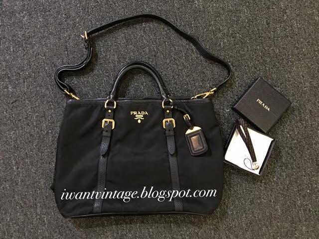 49b6c64751 I Want Vintage | Vintage Designer Handbags: Prada BN1881 Tessuto ...