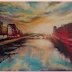 GIVEAWAY!  Sun meets the Liffey at dusk -  Print by  Artist Monika Ferris