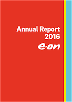 Front page of the annual 2016 report from E.On
