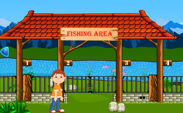 Small Boy Fishing Escape