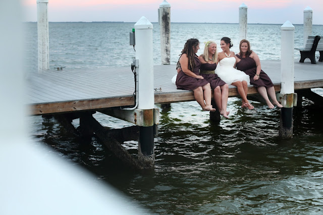 south seas resort wedding on the t-dock