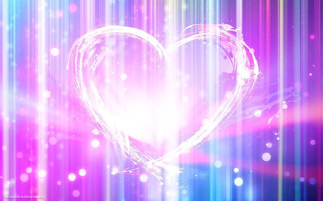 Mooie kleuren, lichten en een groot wit liefdes hartje