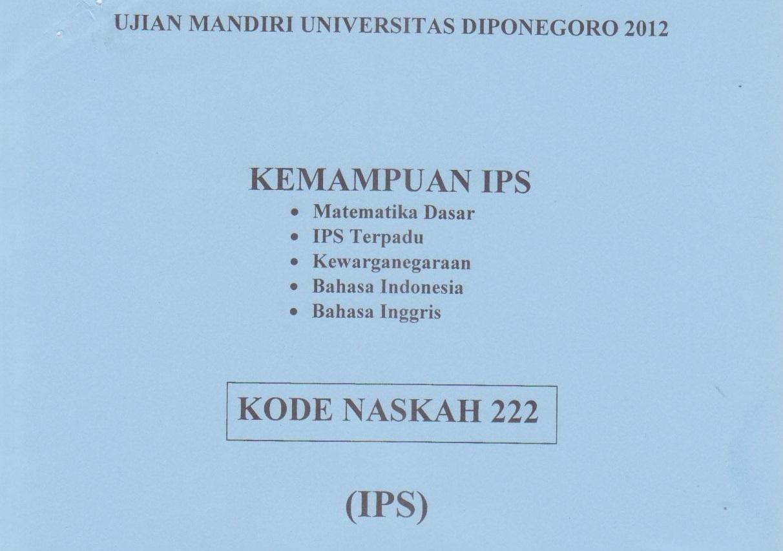 Soal kelompok ipa kemampuan dasar (matematika dasar, bahasa indonesia,. Kumpulan Soal Ujian Masuk Universitas Diponegoro Um Undip Defantri Com