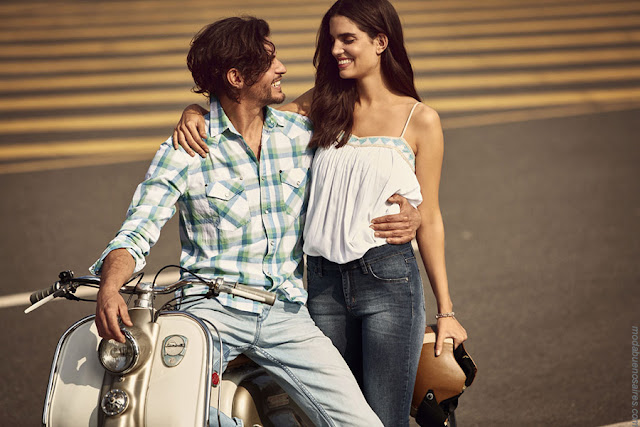 Moda hombre y mujer verano 2017 | Ropa de estilo urbano. | Moda verano 2017 pantalones de jeans, camisas, blusas, remeras y musculosas Wrangler. Moda 2017.