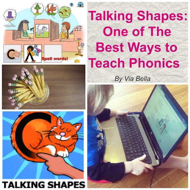 Talking Shapes: One of The Best Ways to Teach Phonics, Via Bella, TOS crew, product review, Hashtags: #hsreviews #talkingfingers #phonics #lettershapes  SEO Keywords:  phoneme awareness, phonics, building words, active learning, drawing letters, letter sounds, letter shapes, spelling