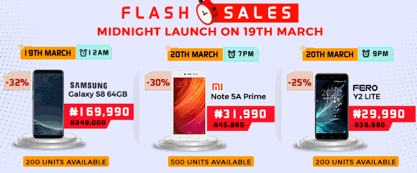 2 Days to Mobile Week! Flash Sales at Midnight Launch on 19th March JUMIA