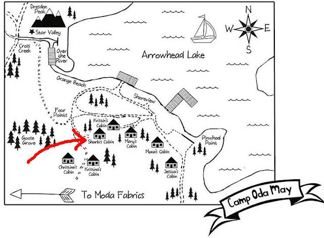 Camp Oda May Map on Thistle Thicket Studio. www.thistlethicketstudio.com
