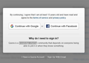 how to access quora without login