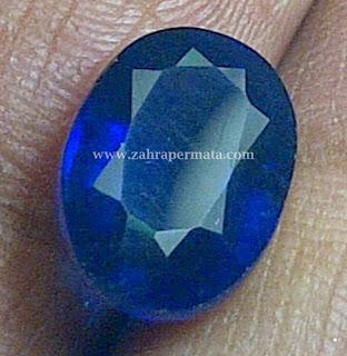 Batu Permata Royal Blue Saphire + Memo - ZP 329