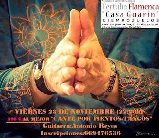 Cartel del concurso de Flamenco, Ciempozuelos, Noviembre 2018