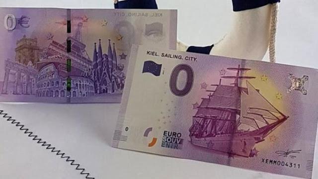 Alemania emite billete de cero euros que se venden en 50 pesos -