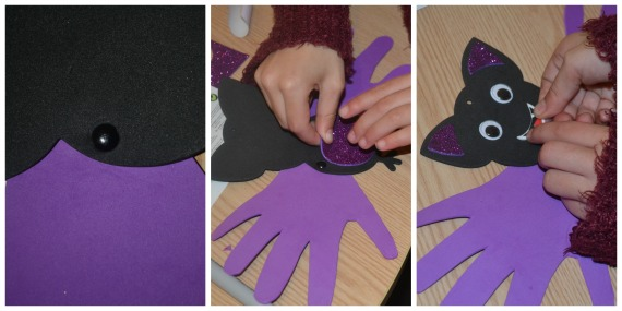 Halloween handprint bat decorations review