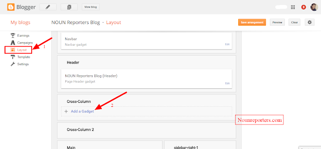 How to Add Pages to the Header of a Blog