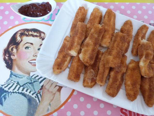 Mozzarella sticks et oignons frits
