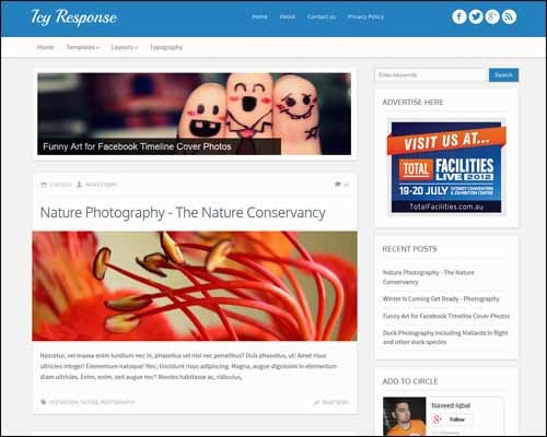 Blogger Template - Icy Responsive Free Blogger Template