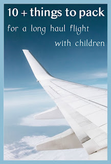 Ten plus things to pack for a long haul flight with small children