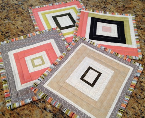 Modern Log Cabin Potholders