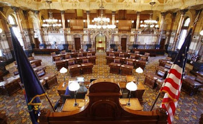 The Senate Chambers in the Kansas Statehouse