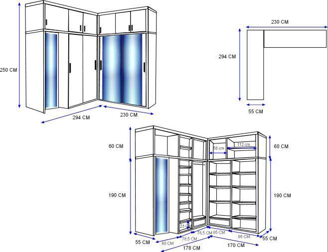 contoh sketsa gambar lemari sudut
