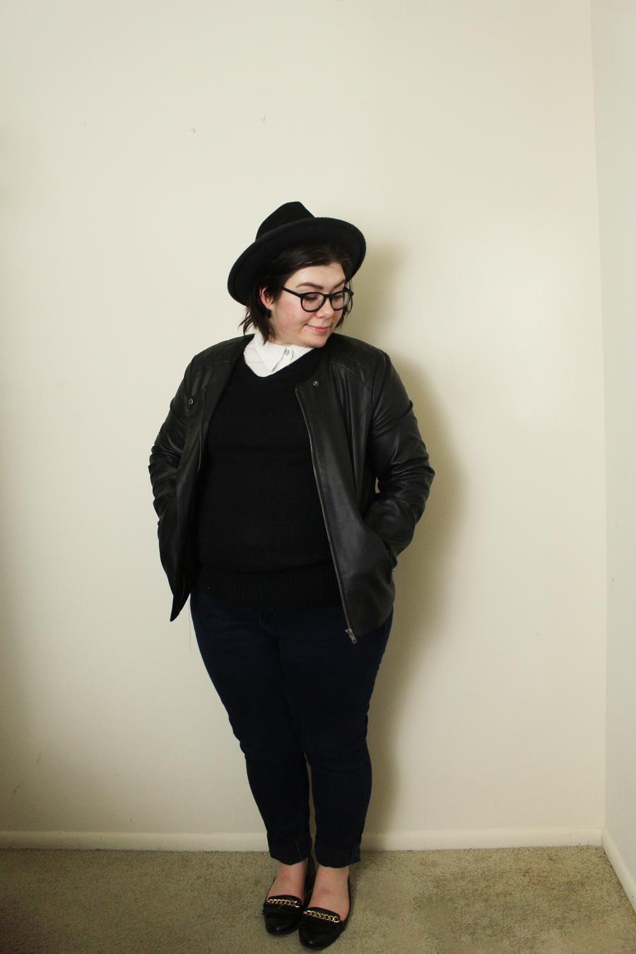 5 Ways to Style a Leather Jacket, katielikeme.com fashion, style, outfit, leather jacket