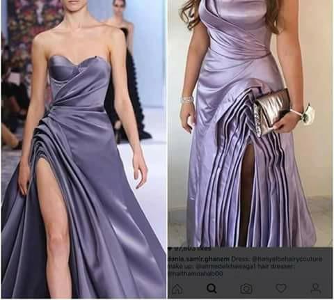 دنيا سمير غانم تثير غضب جمهورها بفستان من تصميم هانى البحيرى,فستان دنيا سمير غانم,فستان دنيا سمير غانم الموف