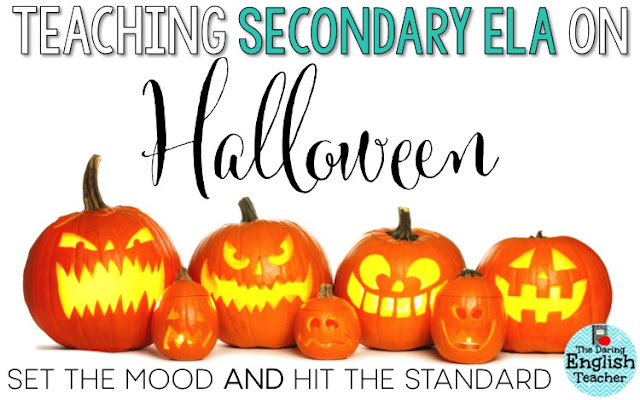 Halloween teaching ideas for secondary ELA teachers.