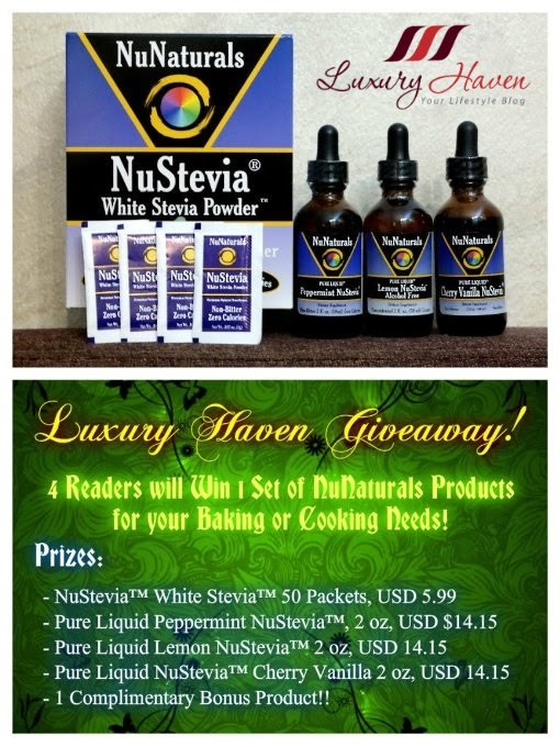 luxury haven nunaturals stevia giveaway