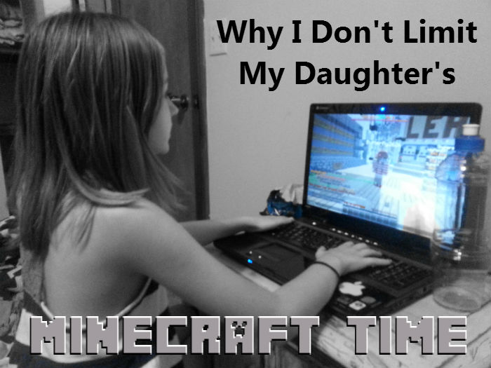 Find out why a mom who has led her children through a screen-free lifestyle would choose not to limit time on Minecraft. #minecraft www.heartofmichelle.com