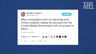 Trump triggers storm with transgender ban