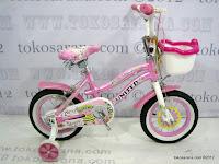 1 Sepeda Anak United Pretty Girl Rangka Aluminium Alloy 12 Inci