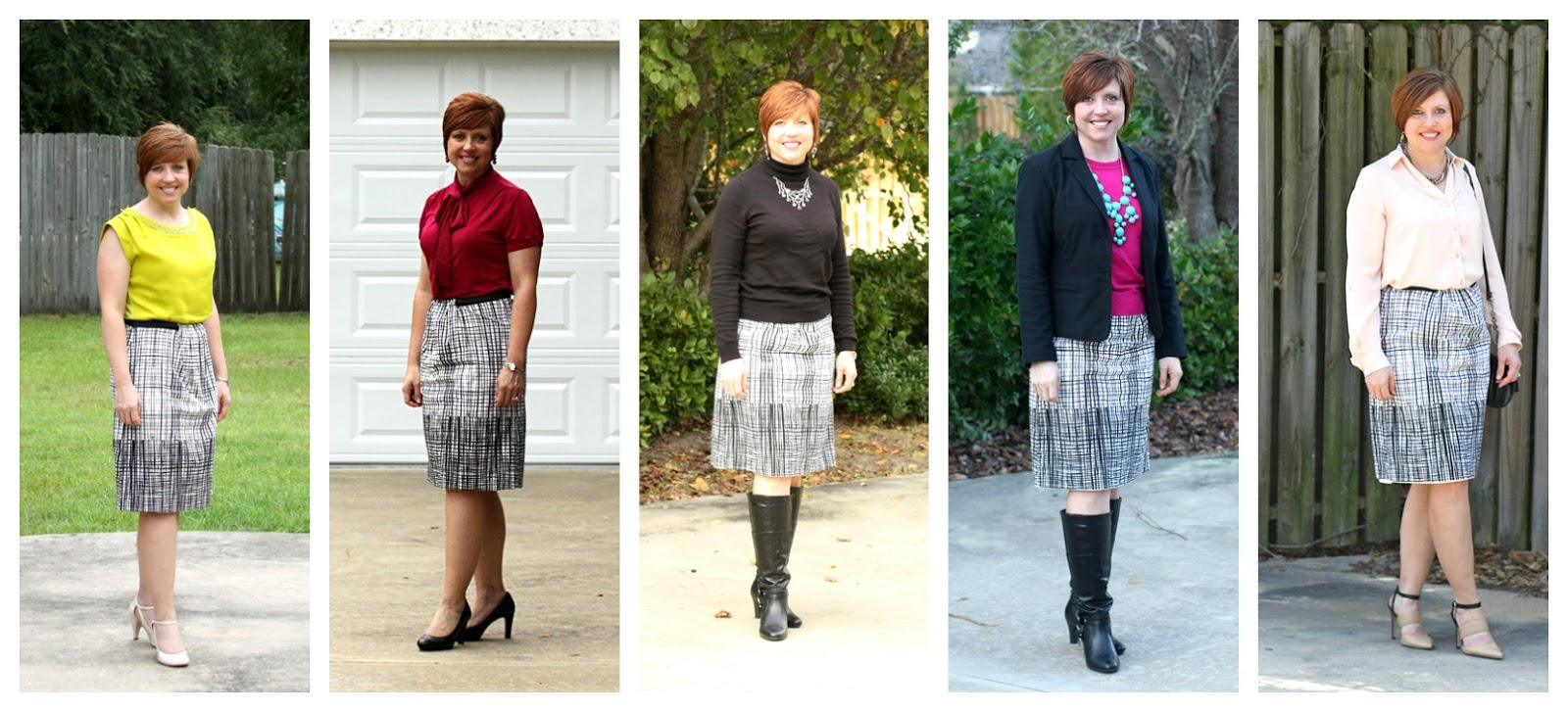 One skirt- 5 ways