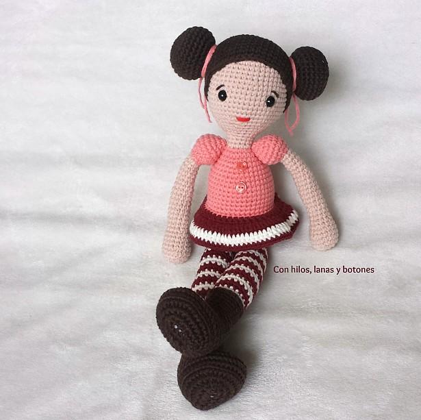 Con hilos, lanas y botones: Michal amigurumi doll