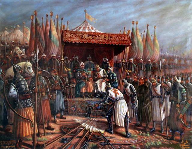 Kekalahan Tentara Salib pada Pertempuran Hattin.
