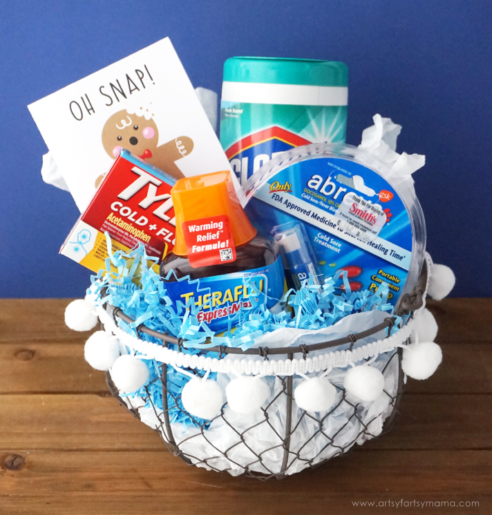 Give the gift of a healthier holiday season with a Healthy Holiday Gift Basket and Free Printable Card! #AHealthyHolidays