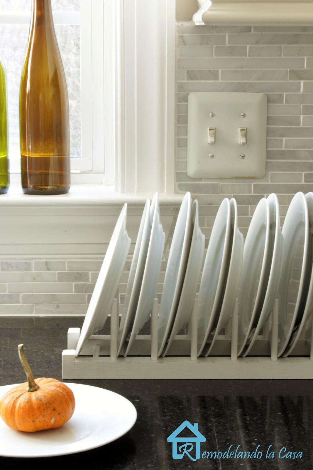 Well-known Easy to Build Plate Rack - Remodelando la Casa CI33