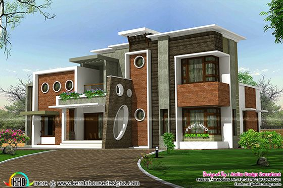 Decorative contemporary style home plan