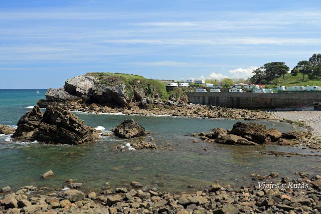 Perán y camping, Senda Norte de Asturias