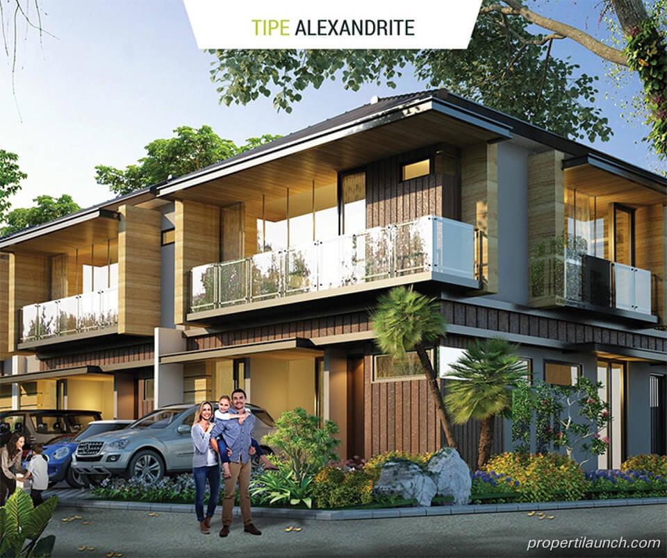 Rumah Golden Stone Serpong Cluster Agate Tipe Alexandria