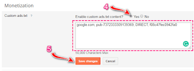 googel adsense ads txt setting blogger