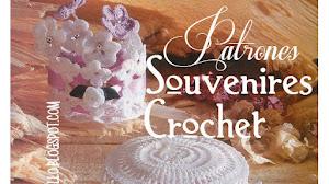 Souvenires Capelina y Centro de flores al crochet / Patrones