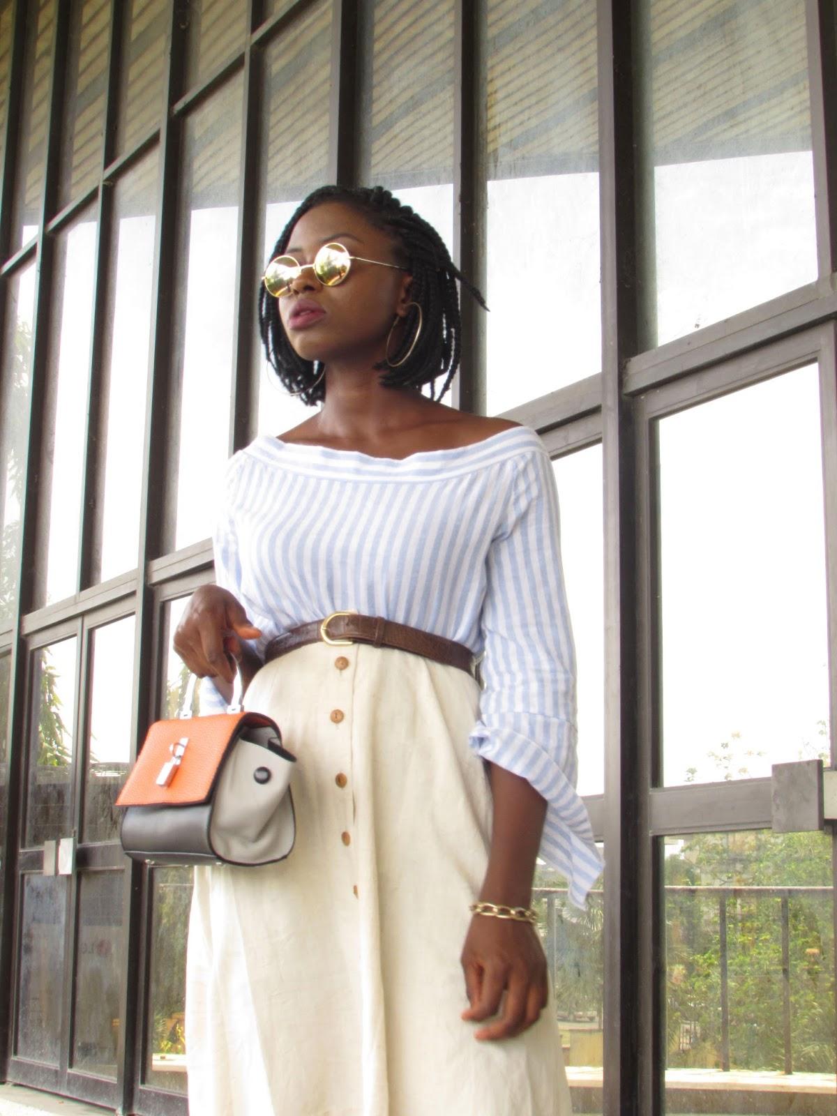 Trend, stripes, skater skirt, vintage, 90s