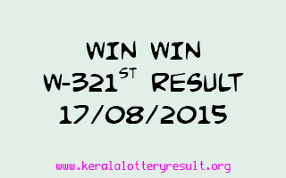 WIN WIN W 321 Lottery Result 17-8-2015