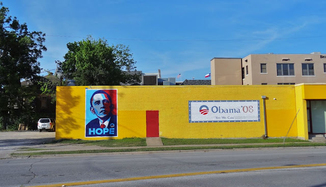 "Original 2008 Obama Campaign ""HOPE"" mural on West Alabama"