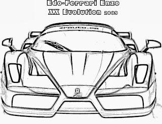 Disegno Ferrari Da Colorare E Stampare Coloradisegni