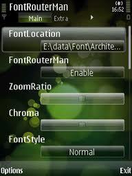 aplikasi fontrouterman nokia e71
