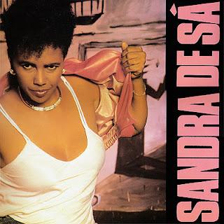 Sandra de Sá na capa do disco Sandra de Sá de 1988