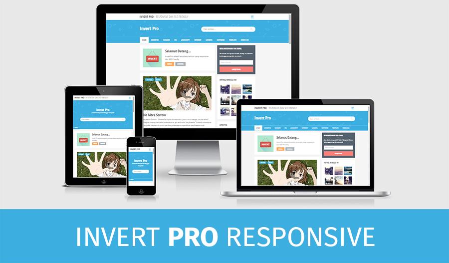 Template Invert Pro 2 - Premium Personal Blogger Template - Serba Gratis